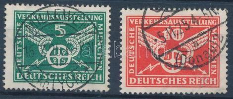 1925 Közlekedési kiállítás sor Mi 370 Y, 371 X