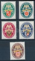 1929 Nothilfe: Címer (IV) sor Mi 430-434