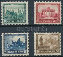 1930 Nothilfe: Épületek (I) sor Mi 450-453