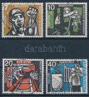 1957 Jólétért: Szénbányászat sor Mi 270-273