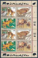 Endangered animals (III) corner block of 8, Veszélyeztetett állatok (III) ívsarki nyolcastömb