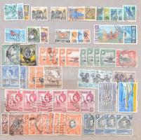 Főleg tengerentúli régebbi bélyegek 10 lapos közepes berakóban