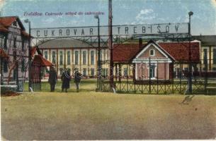 Tőketerebes, Trebisov; Cukorgyár bejárata / Cukrovár / Sugar factory (Rb)