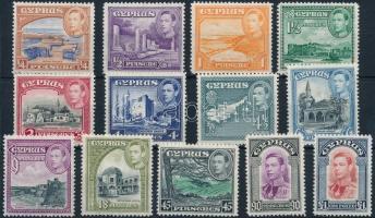 1938 Forgalmi 13 érték Mi 136, 138, 140 A, 143-144 A, 147-151, 152-154
