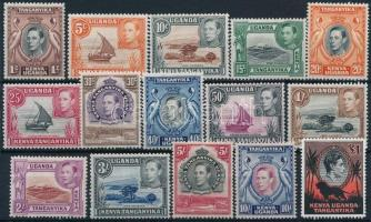 VI. György király 15 klf érték King  George VI. 15 values