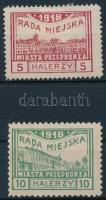 Przedbórz helyi kiadás 1918 Mi 15 B, 16 A