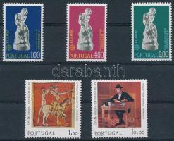 1974-1975 Europa CEPT: Sculptures and paintings 2 diff set, 1974-1975 Európa CEPT: Szobrok és festmények 2 klf sor
