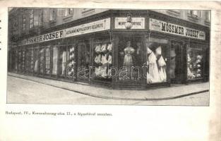 Budapest V. Koronaherceg utca 12., Mössmer József kereskedése a Menyasszonyhoz (fl)