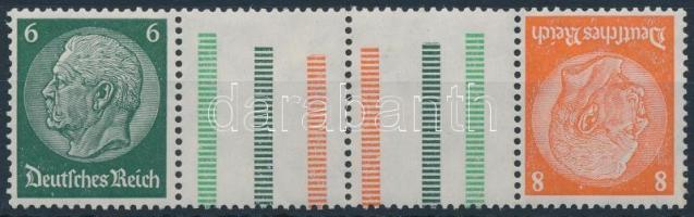 1937/1939 Hindenburg ívközéprészes bélyegfüzet összefüggés Mi KZ 29.1