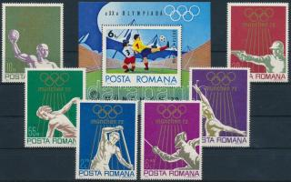 Summer Olympics, Munich set + block, Nyári Olimpia, München sor + blokk