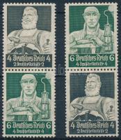 1934 Nothilfe 2 klf bélyegfüzet összefüggés Mi S219, S221