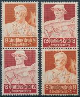 1934 Nothilfe 2 klf bélyegfüzet összefüggés Mi S227, S229