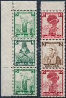 1935 Nothilfe 2 klf bélyegfüzet összefüggés Mi S232, S236