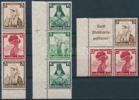 1935 Nothilfe 3 klf bélyegfüzet összefüggés Mi S234, S238, S237+S239