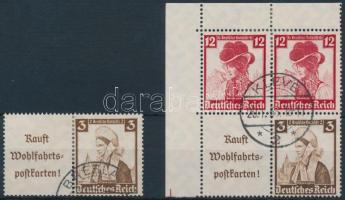 1935 Nothilfe 2 klf bélyegfüzet összefüggés Mi W102, S241+S235