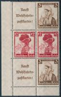 1935 Nothilfe ívsarki hatos bélyegfüzet összefüggés Mi S240, S238