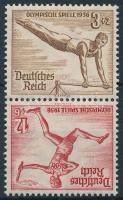 1936 Nyári olimpia Bélyegfüzet összefüggés Mi SK28