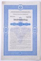 Ausztria / Bécs 1897. Bécsi Közlekedési Bizottság jelzálogkötvény 2000K-ról, szelvényekkel T:II Austria / Vienna 1897. Anlehen der Commission für Verkehrsanlagen in Wien debenture bond about 2000 Kronen with coupons C:XF