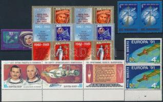 1971-1991 Space Exploration 3 diff sets + 20 stamps, 1971-1991 Űrkutatás motívum 3 klf sor + 20 db önálló érték