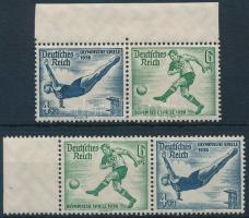 1936 Nyári olimpia 2 klf bélyegfüzet összefüggés Mi W103, W105