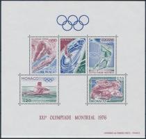 1976 Nyári Olimpia, Montreal sor Mi 1225-1229 + blokk 9