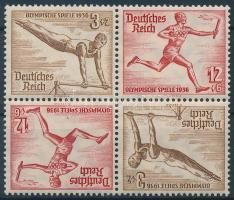 1936 Nyári olimpia 2 fordított párt tartalmazó bélyegfüzet összefüggés Mi SK28