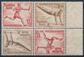 1936 Nyári olimpia 2 fordított párt tartalmazó ívszéli bélyegfüzet összefüggés Mi SK28