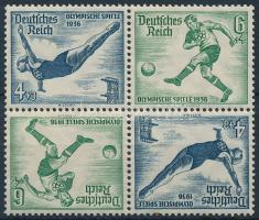 1936 Nyári olimpia 2 fordított párt tartalmazó bélyegfüzet összefüggés Mi SK27