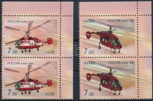 2008 Helikopter sor ívsarki párokban Mi 1505-1506