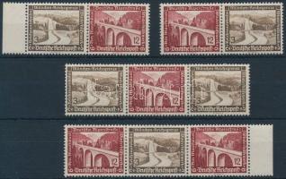1936 Téli segély 4 klf bélyegfüzet összefüggés Mi W115-W118