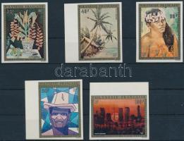 Polynesian art imperforated set Polinéz művészet vágott sor