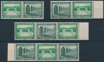 1936 Téli segély 4 klf bélyegfüzet összefüggés Mi W119-W122