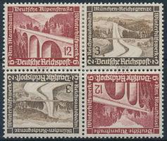 1936 Téli segély 2 fordított párt tartalmazó bélyegfüzet összefüggés Mi SK30