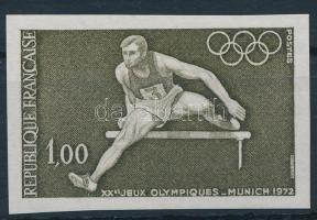 Summer Olympics, Munich imperf stamp, Nyári Olimpia, München vágott bélyeg