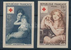 1954 Vöröskereszt vágott sor Mi 1032-1033