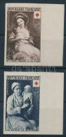 1953 Vöröskereszt vágott sor Mi 984-985