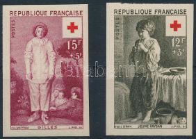 1956 Vöröskereszt vágott sor Mi 1117-1118