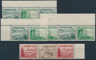 1937 Téli segély 4 klf bélyegfüzet összefüggés Mi W123-124, W 126, W 134