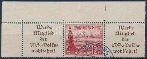 1937 Téli segély ívsarki hármascsík bélyegfüzet összefüggés Mi W128