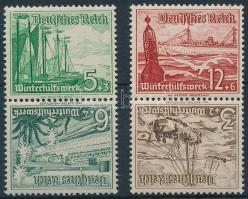 1937 Téli segély 2 klf fordított pár bélyegfüzet összefüggés Mi SK31, SK32