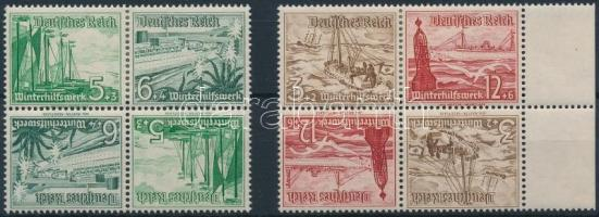 1937 Téli segély 2-2 fordított párt tartalmazó bélyegfüzet összefüggés Mi SK31, SK32