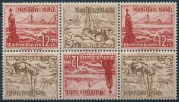 1937 Téli segély 3 fordított párt tartalmazó bélyegfüzet összefüggés Mi SK31