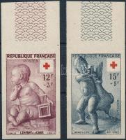 1955 Vöröskereszt ívszéli vágott sor Mi 1076-1077