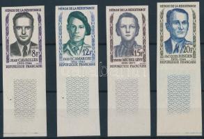 1958 Ellenállók (II.) ívszéli vágott sor Mi 1193-1196