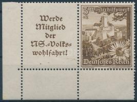 1938 Téli segély bélyegfüzet összefüggés Mi W135
