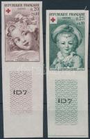 1962 Vöröskereszt ívszéli vágott sor Mi 1418-1419