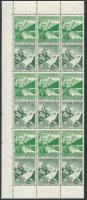 1938 Téli segély 3-3 hármascsíkot tartalmazó bélyegfüzetlap ívdarab Mi S246, S248