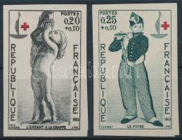1963 Vöröskereszt vágott sor Mi 1454-1455