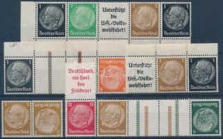 1934-1939 Hindenburg 6 klf bélyegfüzet összefüggés