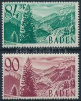 Baden 1947-1948 Forgalmi, vasút Mi 12, 37